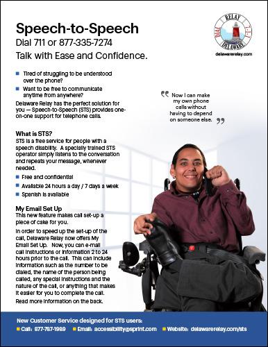 Delaware Relay <br/>Speech-to-Speech Flyer